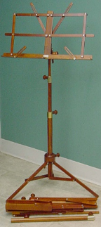 wood music stand, Foldable