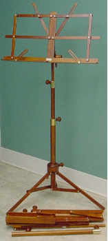 wood music stand, Foldable (SKU: MSwf)