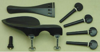 Rose wood Violin part set with White horn decor (SKU: Ps7Rwr)