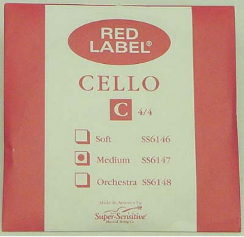 Red Label Cello Strings (SKU: SC611a)