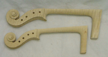 Cello Neck Scroll (SKU: ScCf)